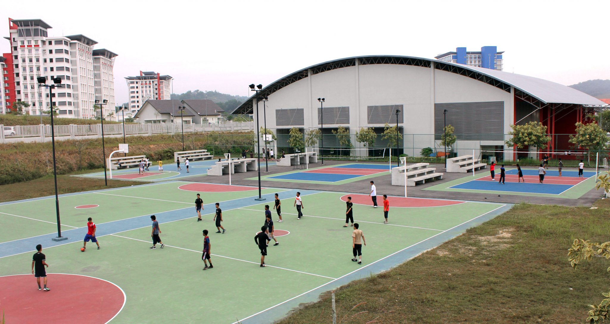 Volleyball and Basketball Outdoor Court